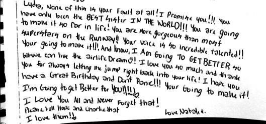 Natalie letter 5